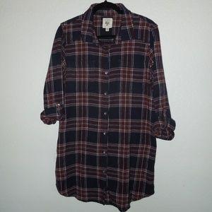 BILLABONG Plaid Flannel Dress L